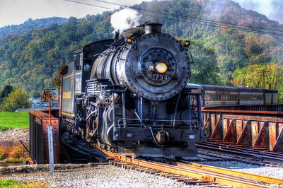 The Friday WMSR excursion arrives at the Cumberland Station