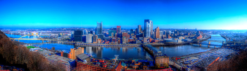 12/12/12 Pittsburgh from Mt. Washington overlook near the Mon Incline.