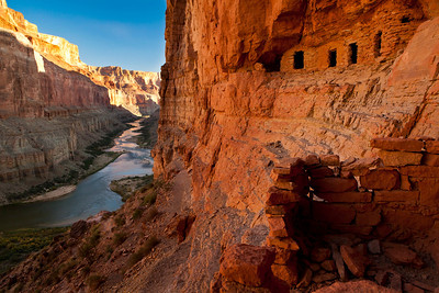 Ancient granaries, Grand Canyon, Colorado River