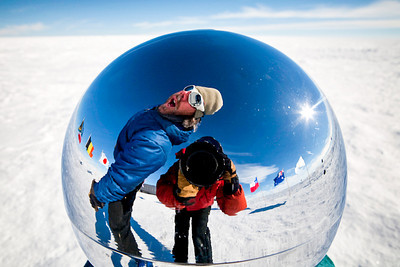 Playing around at the South Pole, Antarctica