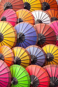 Sun umbrellas, Laos