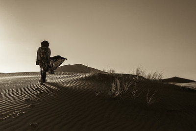 Walking the Sahara.