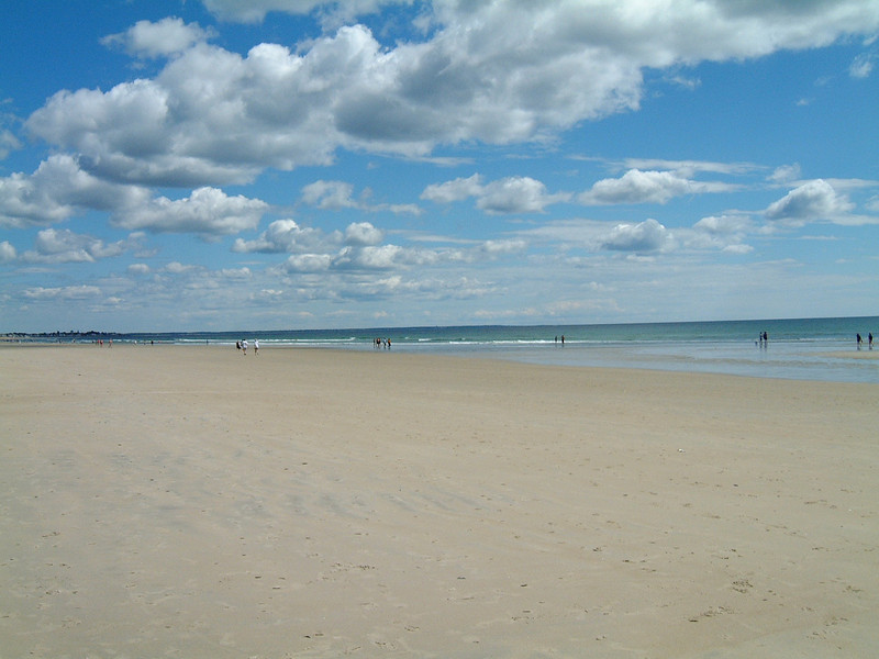 Beach at Wells, Maine.