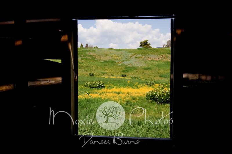 Meadow Mountain From the Line Shack Window - Minturn, Colorado