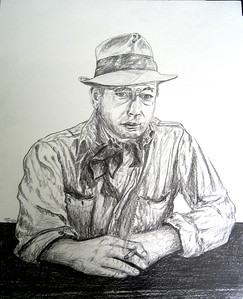 Bogart; Treasure; Sierra; Madre.; 14x17; graphite; pencil; may; 2015