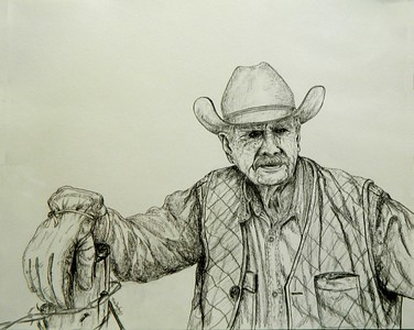 The; Cattleman.14x17; graphite; pencil; april; 2016.