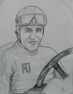 Tazio; Nuvolari; graphite; pencil; 9x11; oct; 2015