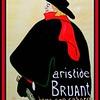Homage; Toulouse; Lautrec; Aristide; Bruant; 18x24; watercolor; july; 2017