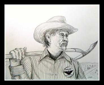 Cesar; Chavez; 14x17; graphite; pencil; aug; 2016.