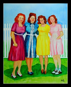 The; Ratkovic; Sisters; 16x20; gouache; watercolor; may; 2016