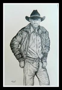 The; Rancher.; 12x18; graphite; pencil; april; 2016