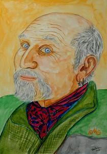 Portrait; Bob; Seidenstein; 11x15; gouache; july; 2016.