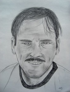 Tom; Self; Portrait; may; 1970.11x14; graphite; pencil; april; 2015.
