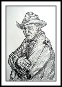 The Stockman; 12x18; graphite pencil; may; 2017.