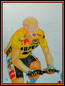 Laurent; Fingon; Tour; France; 1989; 12x16; gouache; pencil; 2016