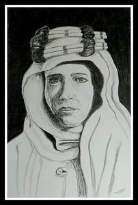 Lawrence; Arabia; 14x17; graphite; pencil; aug; 2016.