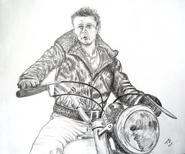 The; Rebel; 14x17; graphite; pencil; may; 2015
