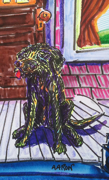 """Waiting For Me To Return (illustration from the book, Romancing The Smoke) Watercolor, mixed media 12"""" x 9""""  Available"""
