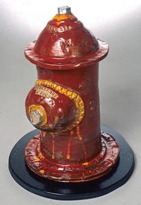 """Public Art 4 Dogz #1  Glazed stoneware, mixed media 24"""" x 16"""" x 17"""" Collection of Dick and Jane Stoker, Washington, DC"""