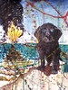 "The Watchdog- Deep Horizon<br /> Mixed media on paper <br /> 22"" x 16""<br /> Available through the <br /> John Natsoulas Center for the Arts, Davis, CA"