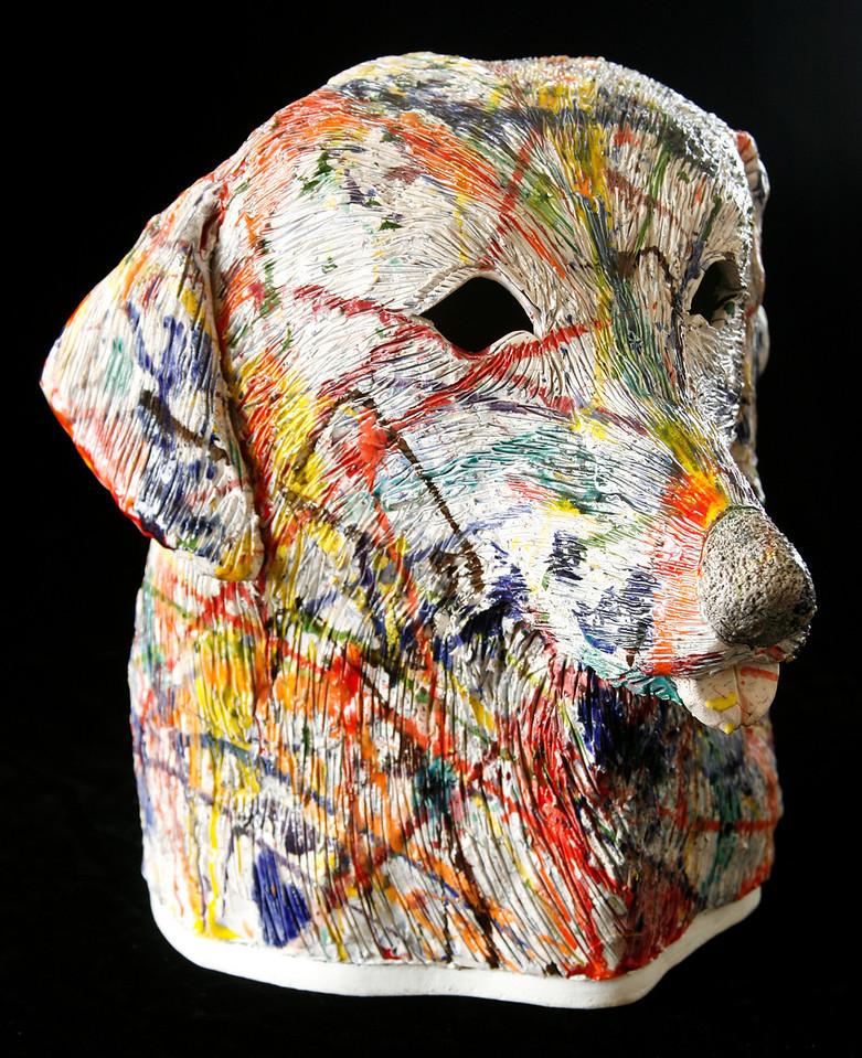 "Jackson's Dog Stood Too Close #3 Glazed porcelain 16"" x 15"" x 12"" Available"