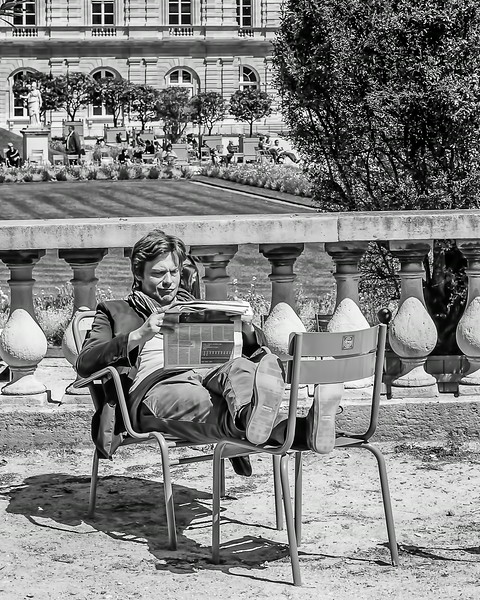 Relaxing at the Luxembourg Garden
