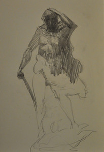 Drawing from a bronze sculpture