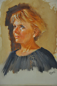Nancy Oil on Linen 20X16 This the oil sketch of Nancy. You can see the finished work in the next frame.