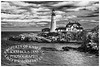 Portland Head Lighthouse in Black and White