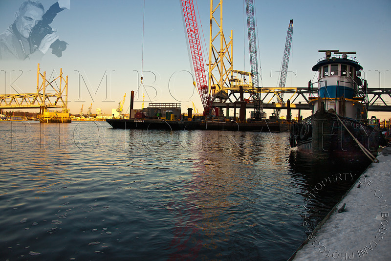 Portsmouth New Hampshire,New Memorial Bridge Construction