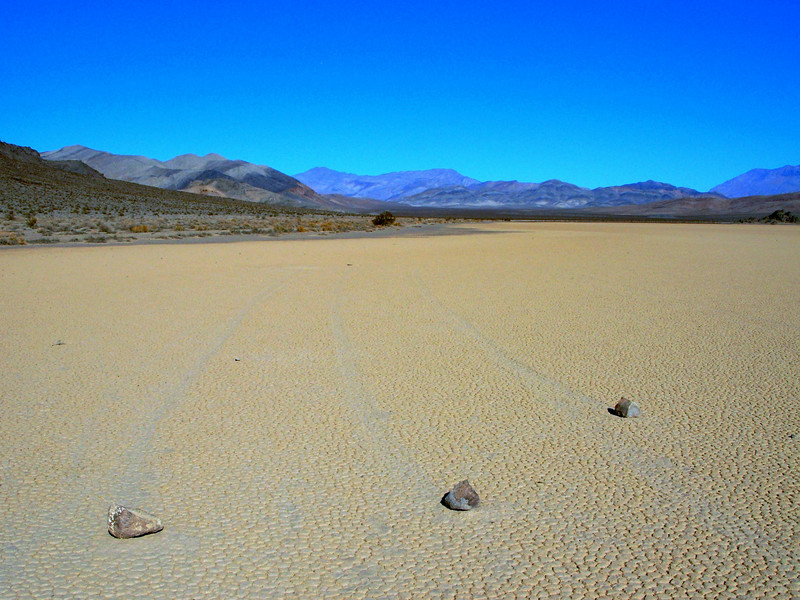 The Racetrack in Death Valley  -  The Original Photo.