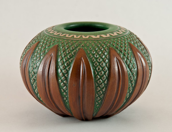 Botanical leaf vase by FoxLo Pottery