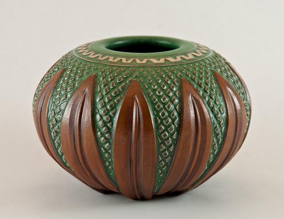 Botanical leaf vase by FoxLo Pottery