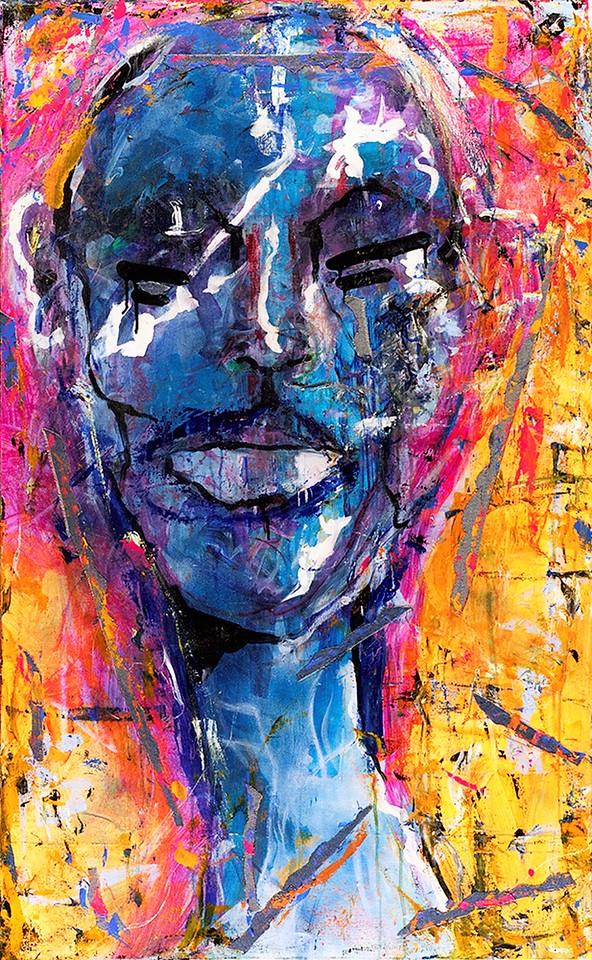 Warrior Beauty series # 1 - Mona Lisa - mm on canvas. 2015