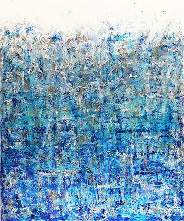Janurary series # 3 - 72x60 - acrylic mixed media on canvas. 2015