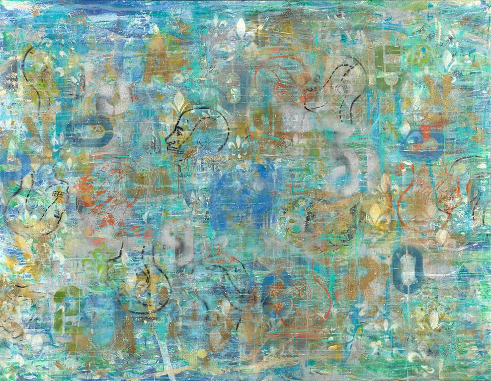 Mind Blown series - #1 - 68x48 - mixed media on canvas.