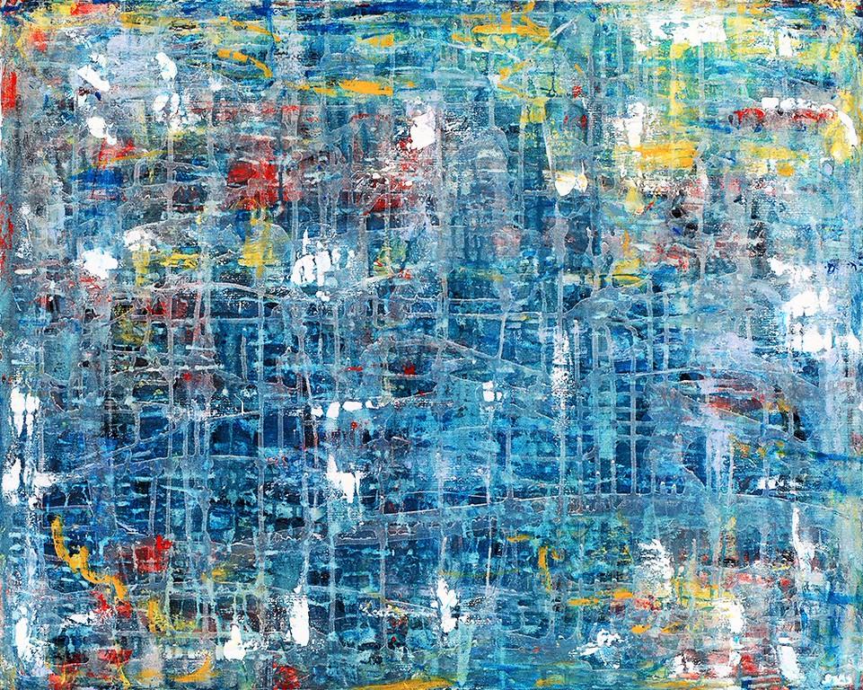 Aquarius - 48x36 - mixed media on canvas. 2014