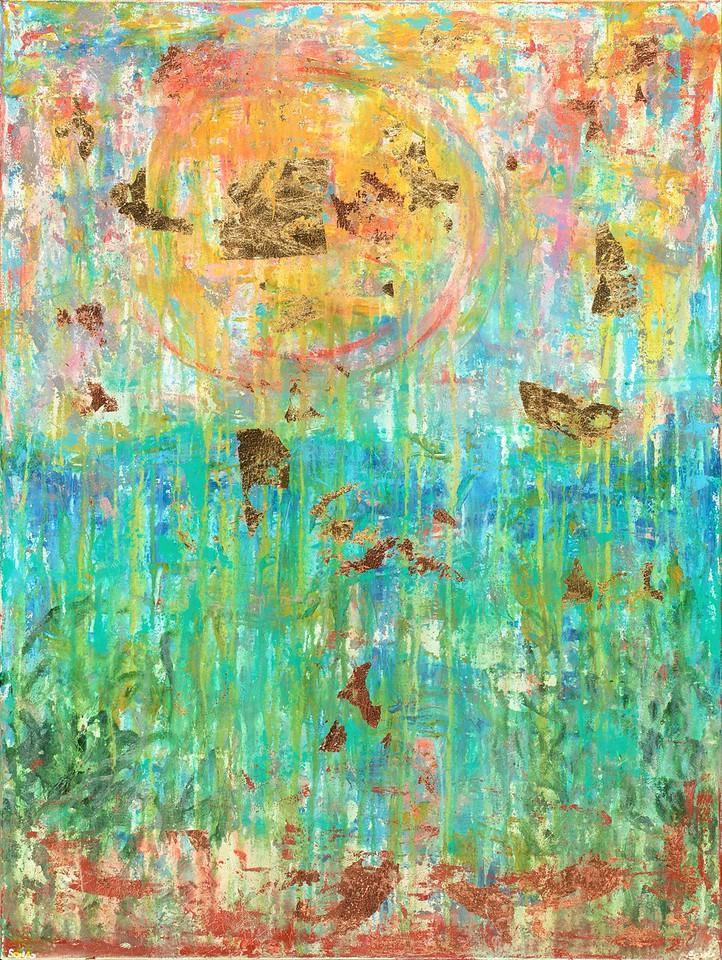 Eze - 48x36 - mixed media on canvas.