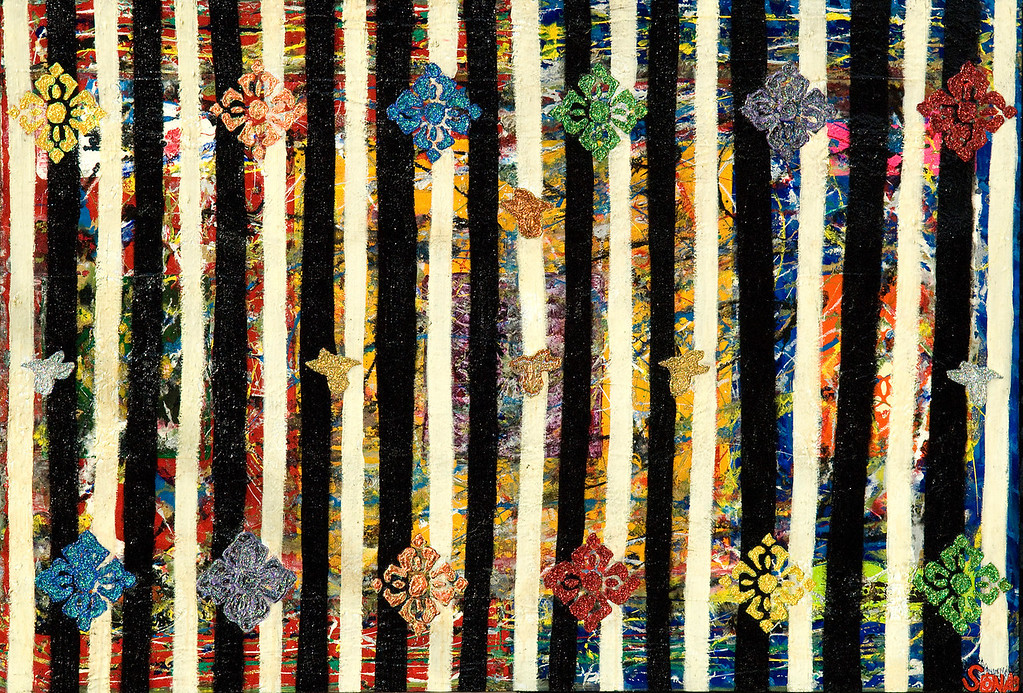Carnivale - June 2010 - 48x72- mixed media on canvas for Chicago's Children's Hospital.