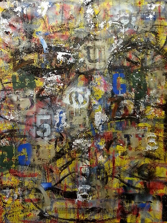 007 - March 2013 - 96x109 - mixed media on canvas.