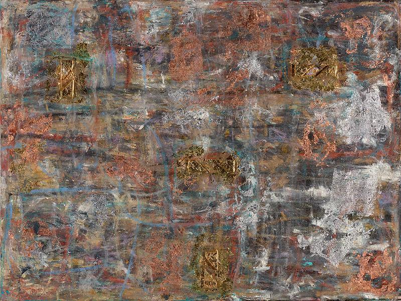 November - 36x48- 3d, oil, precios metaling, mm on canvas.