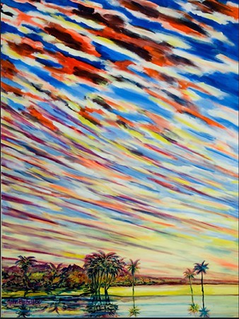 """©John Rachell Title: Sky, August 16, 2006 Image Size: 36"""" x 48"""" Dated: 2006 Medium & Support: Oil paint on canvas Signed: LL Signature Prints available only."""