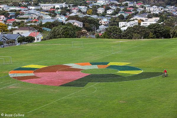 """Projected Fields"" by Siv Fjaerestad, Macalister Park, Wellington, 20 April 2015"