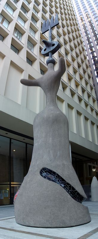 This sculpture by Joan Miro is snugly nestled between two buildings across from the Daley Plaza, so I almost didn't find it.