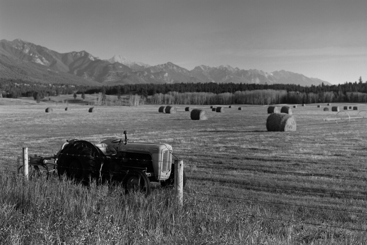 """Swansea Ranch""<br /> Shot on black and white film in medium format, this is one of the first photos that I made on a medium format camera.  The larger format gave me sharper detail and smoother grain than the 35mm camera that I had been using in the years previous.<br /> This photo was made in the fall of 1997."