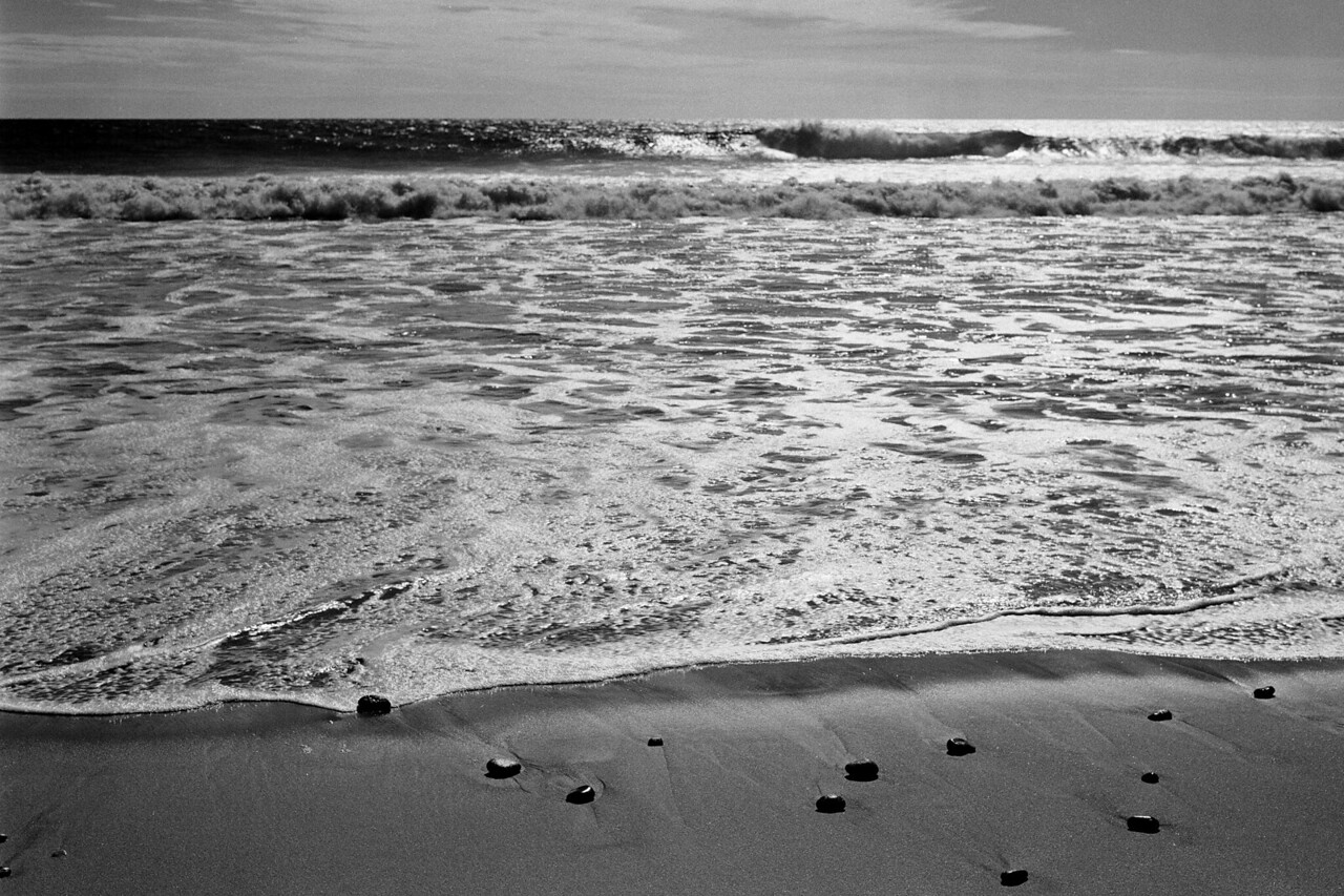 """Punta Conejo""<br /> This photo was made on medium format black and white film.  I used a 1950's era rangefinder camera that I had picked up second hand at a pawn shop.  Due to the misalignment of the lens to the film plane, it was rare to get a photograph that was consistently in focus!<br /> This photo was made on a road trip to Mexico in the fall of 1999."