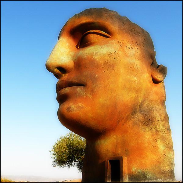 """TINDARO"" by Igor Mitoraj - Agrigento, Valle dei Templi (SICILIA-ITALY), 2011.<br /> Ordering Reference: Stony Stares-IT-07"