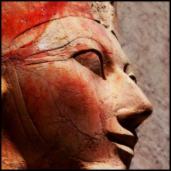 """QUEEN HATSHEPSUT"" - Luxor, Deir el-Bahari Temple (EGYPT), 2006.<br /> Ordering Reference: Stony Stares-EG-01"