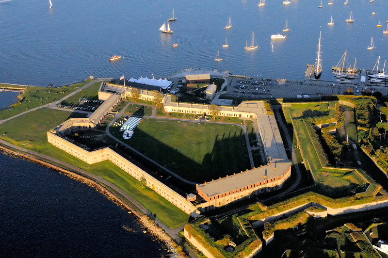Fort Adams from Helicopter 9/2013