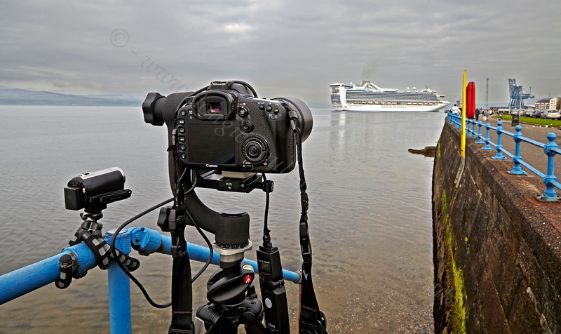 Cruise Ship - 'Caribbean Princess' - Off Greenock Esplanade - 19 May 2013